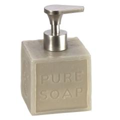 Accesorios de ba�o, dosificador ba�o soap cuadrado gris en lallimona.com