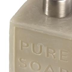 Accesorios de baño, dosificador baño soap cuadrado gris en lallimona.com (2)