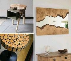 Aut�nticos muebles de madera reciclada