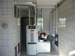 Instalación caldera biomasa herz firematic 35kw