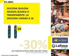 Oferta de abril 30% en silicona Quilosa Aklesil