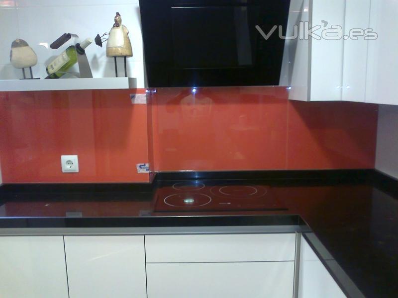 Cristalerias parra s a - Frente cocina cristal ...