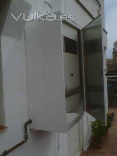 Foto armario de caldera exterior Armario pvc exterior