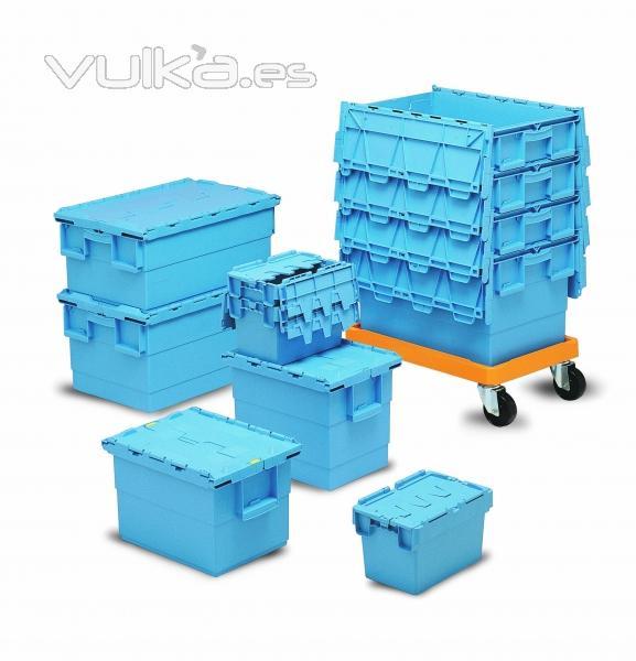 Cajas y palets de plastico - Contenedores metalicos apilables ...