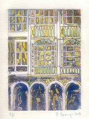 José Manuel Peña Romay - Grabado Nº 1 serie Galerías - Copia única - Med. hoja: 35 x 25 - 100 EUR
