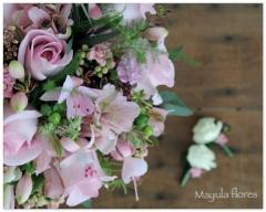 Ramo de novia en rosa suave mayula flores