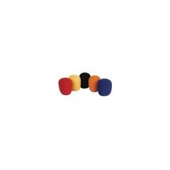 Antiviento de espuma en colores (rojo, azul, negro, amarillo y naranja) para uso general en microfon