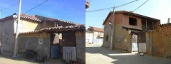 Rehabilitaci�n de una antigua casa rural de las cubierta, el forjado y el corredor.