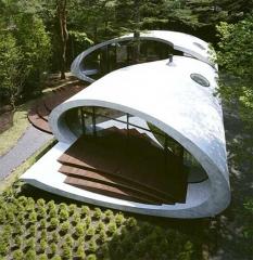 Espectacular casa con arquitectura curva