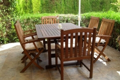 Muebles de madera de cedro para el jard�n