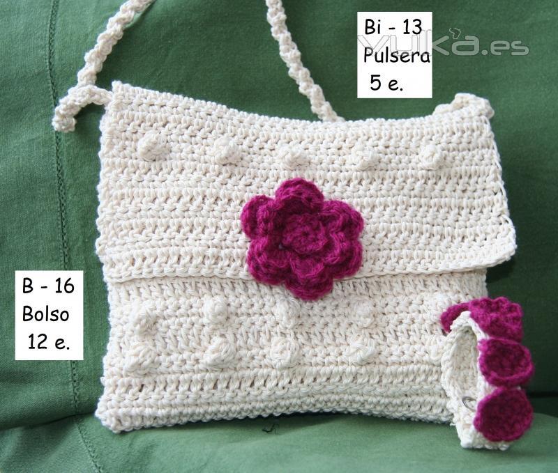 moderno y elegante en moda diseño unico proveedor oficial Foto: Pequeño bolso en bandolera de crochet en hilo de ...