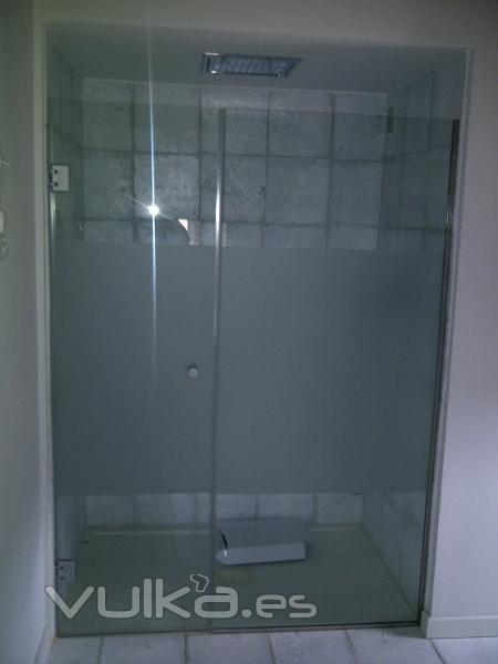 Foto mampara de ducha sin perfileria herrajes de acero inox - Mamparas de ducha sin perfiles ...