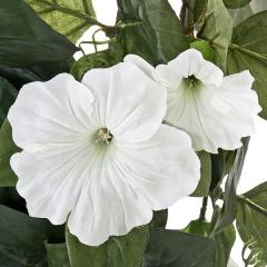Plantas colgantes artificiales. planta artificial colgante petunias blancas 75 en la llimona home (1