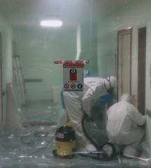Retirada de suelos con amianto