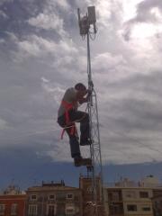 Trabajos sobre torretas redes inhalambricas