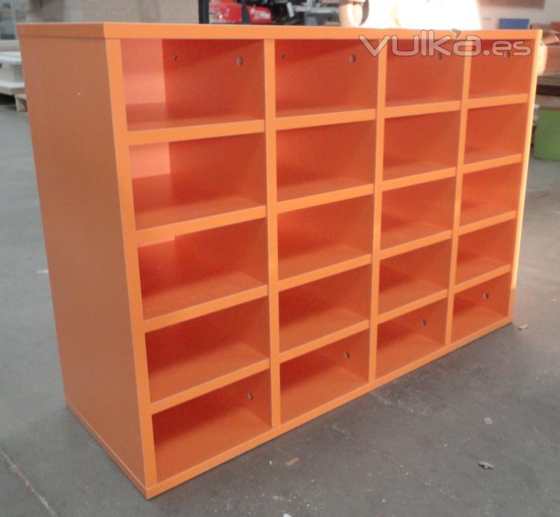 Foto muebles para papeler a en madera y en metal for Colores maderas para muebles