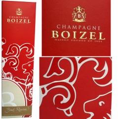 Estuche champagne impreso directamente sobre la calidad cheverny 650 gr/m2