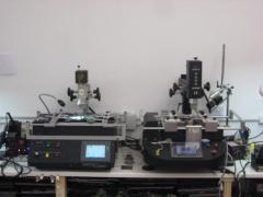 Maquinaria de reballing del taller