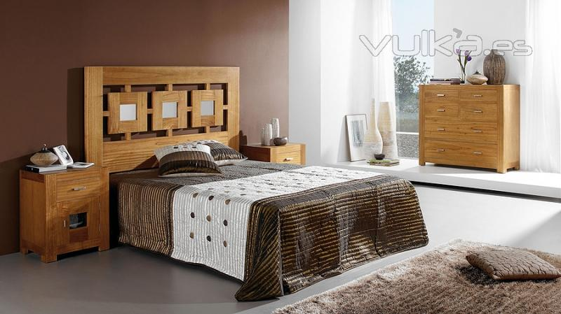 Foto dormitorio en madera de roble con armario a juego - Dormitorios de madera modernos ...
