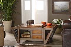 Mesa de centro revistero en madera de casta�o