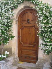 Puerta de entrada en casta�o