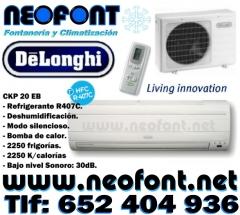 Aire Acondicionado split  DeLONGHI 2250 f/h, frio/calor, por solo 159EUR