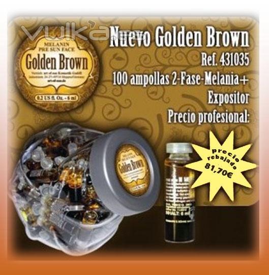 AOS, golden brown, tantube, tan tube, cremas solares, rayos UVA, tubos rayos UVA