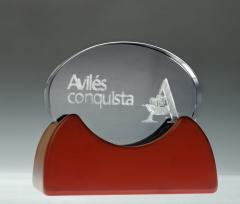Regalos de empresa en cristal 3d