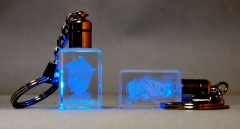 Llavero promocional en cristal 3d