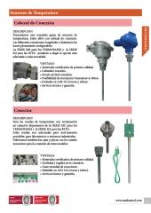 Sondas de temperartura con cabezal y conector. Aplicaciones y ventajas