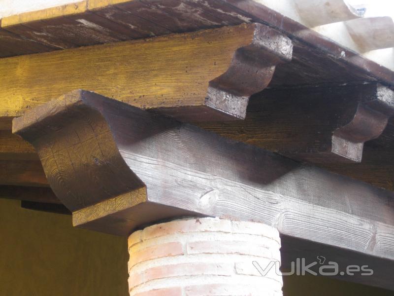 Foto pergolas y vigas en hormig n imitacion madera - Vigas de hormigon imitacion madera ...