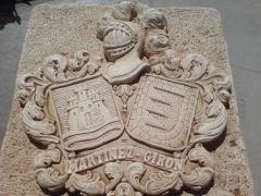 Escudos heraldicos en piedra artificial