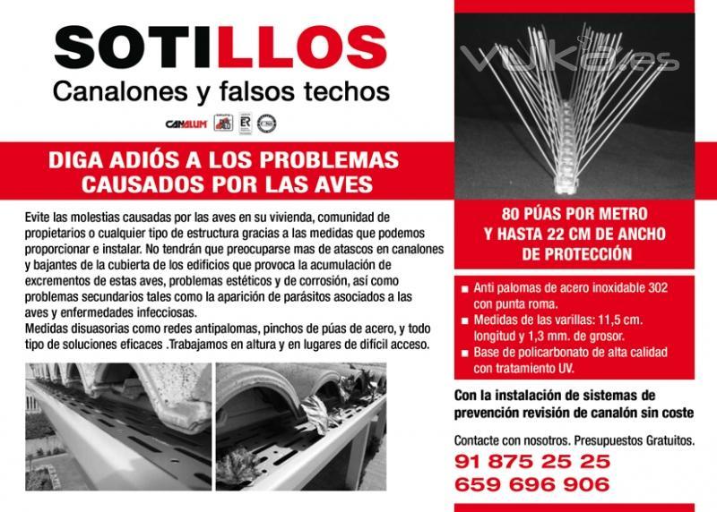 Foto rejillas antipalomas para los canalones pluviales - Fotos de canalones ...
