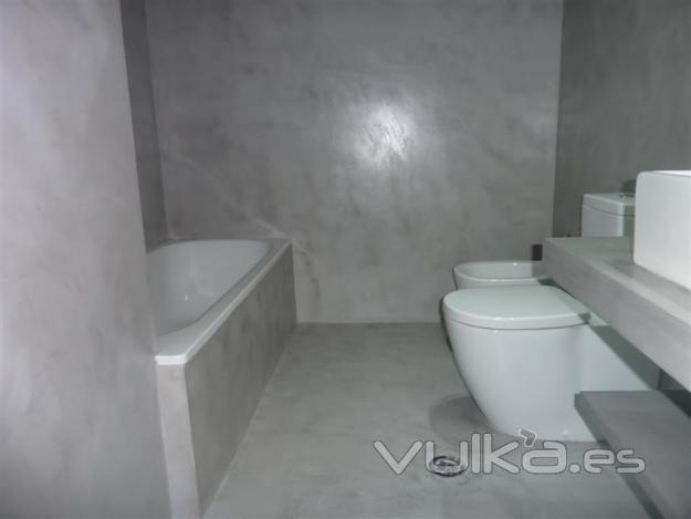 Cuartos De Baño En Microcemento:Microcemento en baño
