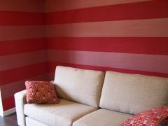 Papel pintado raya ancha en horizontal para sal�n.