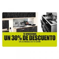 Descuento del 30% en muebles de cocina