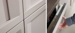 Detalle mobiliario de cocina soho de dica color piedra