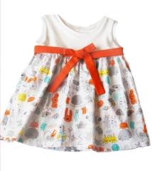 Vestido en algodón orgánico para niñas con diseños únicos