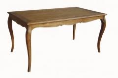 Mesa de comedor fija decó roble envejecido. estilo vintage francés.