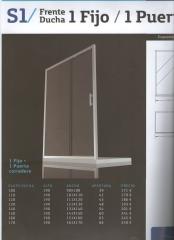 Mampara Cromo en cristal 6mm micropunto desde 171EUR-Portes Gratis-