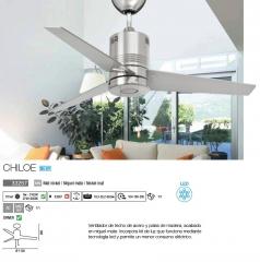 Ventilador de diseño moderno equipado con iluminación LED