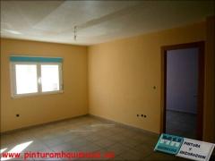 Pintura plastica mate, techo blanco y paredes color vb119