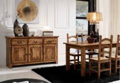 Mueble de comedor rustico mexicano, sillas, mesa