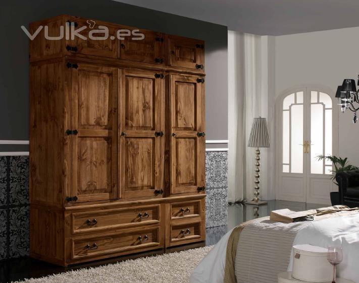 Foto mueble armario rustico mexicano for Muebles de cocina rusticos fotos