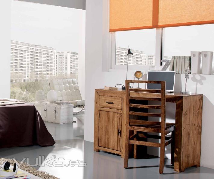 Foto mueble escritorio rustico mexicano for Muebles rusticos baratos