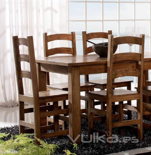 Foto sillas en madera maciza rusticas mexicanas barras - Sillas rusticas ...