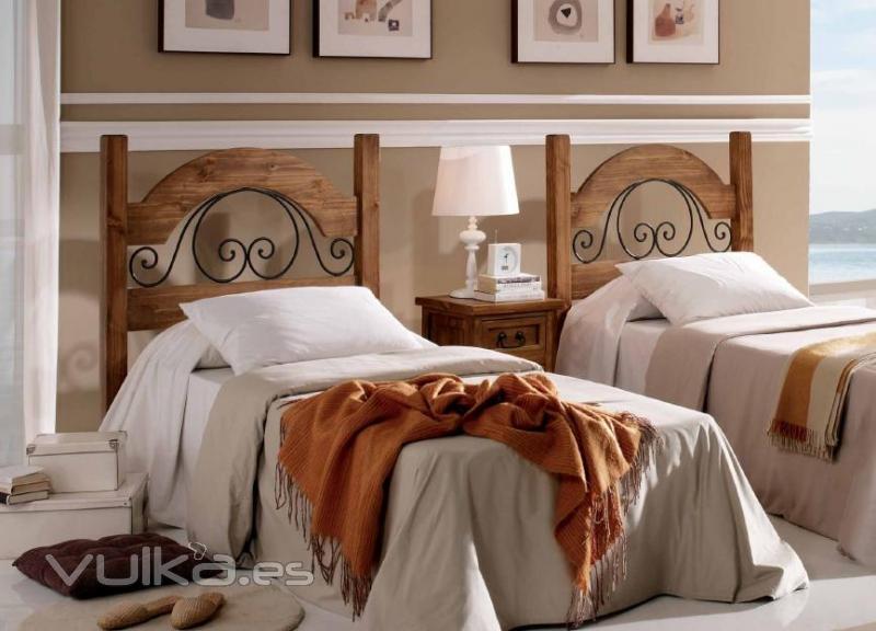 Foto muebles de dormitorio juveniles en madera maciza - Cuartos de bano rusticos fotos ...