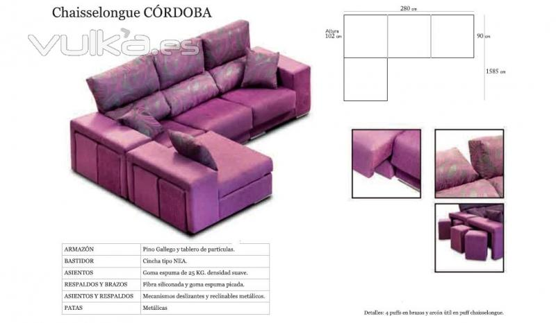Foto sofas con chaiselongues baratos reclinables for Sofas reclinables economicos