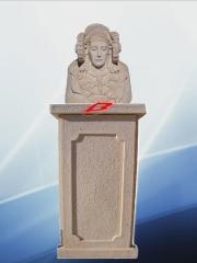 Dama de elche con pedestal