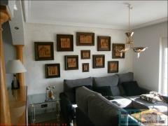 Varias pinturas plastico mate gris (pl043) y alta decoracion indico color artico